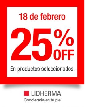 25% de descuento en 16 productos seleccionados.